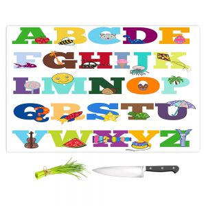 Artistic Kitchen Bar Cutting Boards | Valerie Lorimer - Alphabet