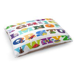 Decorative Dog Pet Beds | Valerie Lorimer - Alphabet