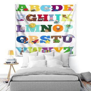 Artistic Wall Tapestry | Valerie Lorimer - Alphabet
