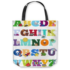 Unique Shoulder Bag Tote Bags | Valerie Lorimer - Alphabet