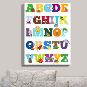 Decorative Canvas Wall Art | Valerie Lorimer - Alphabet | Fun Child Like Letters Learning
