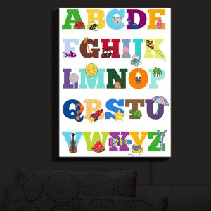 Nightlight Sconce Canvas Light | Valerie Lorimer - Alphabet | Fun Child Like Letters Learning