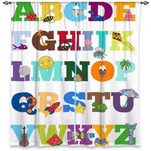 Decorative Window Treatments | Valerie Lorimer - Alphabet