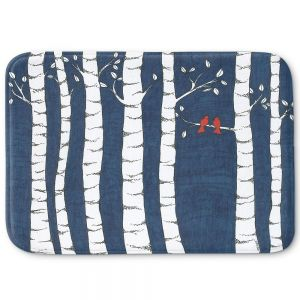 Decorative Bathroom Mats | Valerie Lorimer - Always and Forever | Birds Trees