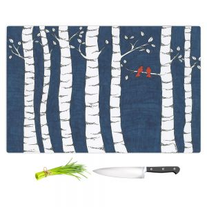 Artistic Kitchen Bar Cutting Boards | Valerie Lorimer - Always and Forever | Birds Trees