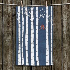 Unique Hanging Tea Towels | Valerie Lorimer - Always and Forever | Birds Trees