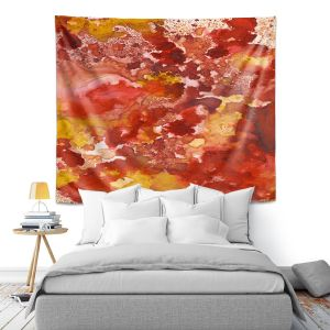Artistic Wall Tapestry | Valerie Lorimer - Beneath the Surface | Abstract smoke