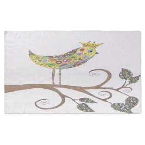 Artistic Pashmina Scarf | Valerie Lorimer - Bird Talk | Tree Branch Childlike