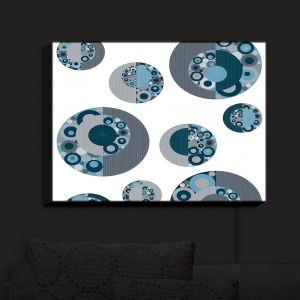 Nightlight Sconce Canvas Light | Valerie Lorimer - Circle Around | Absctract Cirlcles