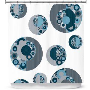 Premium Shower Curtains   Valerie Lorimer - Circle Around