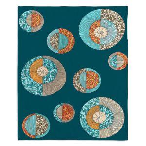 Artistic Sherpa Pile Blankets | Valerie Lorimer - Circles MCM 2