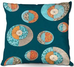 Decorative Outdoor Patio Pillow Cushion | Valerie Lorimer - Circles MCM II
