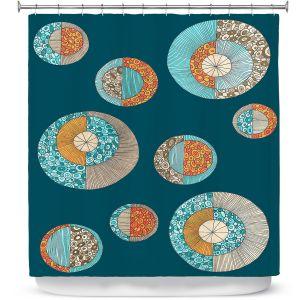 Premium Shower Curtains   Valerie Lorimer - Circles MCM 2