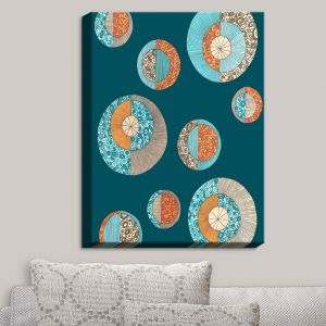 Decorative Canvas Wall Art | Valerie Lorimer - Circles MCM II