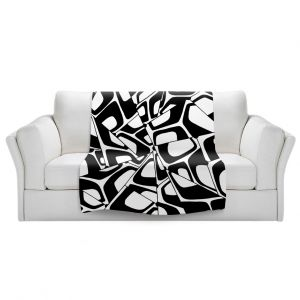 Artistic Sherpa Pile Blankets   Valerie Lorimer - City Center   Abstract Pattern Repetition