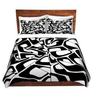 Artistic Duvet Covers and Shams Bedding | Valerie Lorimer - City Center | Abstract Pattern Repetition