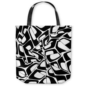 Unique Shoulder Bag Tote Bags | Valerie Lorimer - City Center | Abstract Pattern Repetition