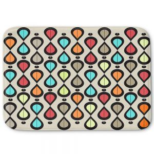 Decorative Bathroom Mats | Valerie Lorimer - Dance With Me | Pattern repetition geometric
