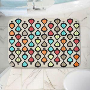 Decorative Bathroom Mats | Valerie Lorimer - Dance With Me | Pattern repetition geometric