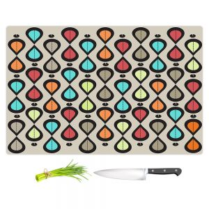 Artistic Kitchen Bar Cutting Boards | Valerie Lorimer - Dance With Me | Pattern repetition geometric