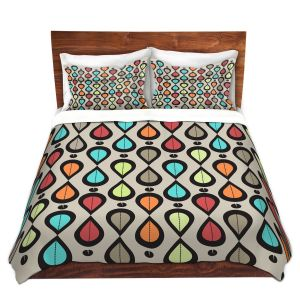 Artistic Duvet Covers and Shams Bedding | Valerie Lorimer - Dance With Me | Pattern repetition geometric