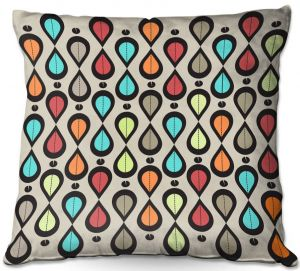Throw Pillows Decorative Artistic | Valerie Lorimer - Dance With Me | Pattern repetition geometric