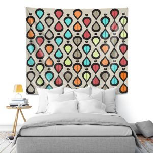Artistic Wall Tapestry | Valerie Lorimer - Dance With Me | Pattern repetition geometric