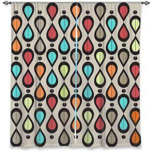 Decorative Window Treatments | Valerie Lorimer - Dance With Me | Pattern repetition geometric