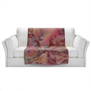 Artistic Sherpa Pile Blankets | Valerie Lorimer - Dancing Rose Glasses | Abstract