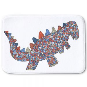 Decorative Bath Mat Small from DiaNoche Designs by Valerie Lorimer - Dinosaur on the Roam