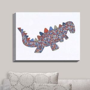 Decorative Canvas Wall Art | Valerie Lorimer - Dinosaur on the Roam