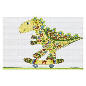 Decorative Floor Coverings | Valerie Lorimer Dinosaur Skater