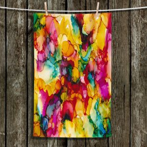 Unique Hanging Tea Towels | Valerie Lorimer - Divine Creative Spark | Colorful abstract pattern Clouds