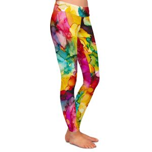 Casual Comfortable Leggings | Valerie Lorimer - Divine Creative Spark | Colorful abstract pattern Clouds