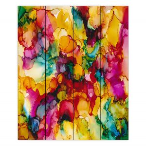 Decorative Wood Plank Wall Art | Valerie Lorimer - Divine Creative Spark | Colorful abstract pattern Clouds