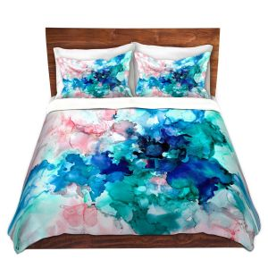 Artistic Duvet Covers and Shams Bedding | Valerie Lorimer - Falling in Love | Abstract water