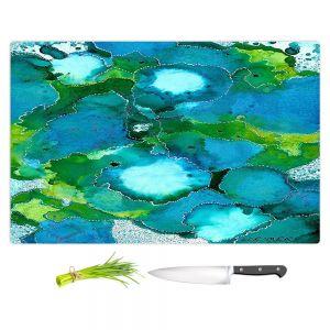 Artistic Kitchen Bar Cutting Boards | Valerie Lorimer - Fields of Abundance | pattern abstract nature