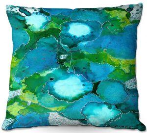 Decorative Outdoor Patio Pillow Cushion | Valerie Lorimer - Fields of Abundance | pattern abstract nature