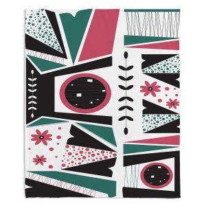 Decorative Fleece Throw Blankets | Valerie Lorimer - Fresh Mojo | Abstract shapes