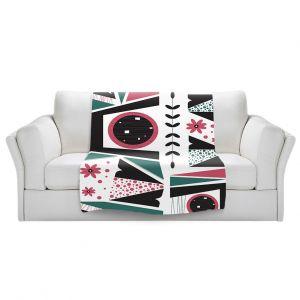 Artistic Sherpa Pile Blankets | Valerie Lorimer - Fresh Mojo | Abstract shapes