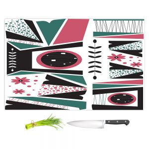 Artistic Kitchen Bar Cutting Boards | Valerie Lorimer - Fresh Mojo | Abstract shapes