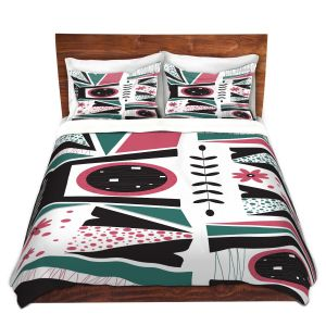 Artistic Duvet Covers and Shams Bedding | Valerie Lorimer - Fresh Mojo | Abstract shapes