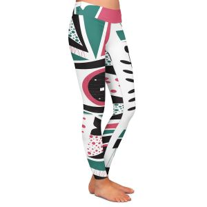 Casual Comfortable Leggings | Valerie Lorimer - Fresh Mojo | Abstract shapes