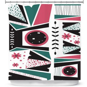 Premium Shower Curtains | Valerie Lorimer - Fresh Mojo | Abstract shapes