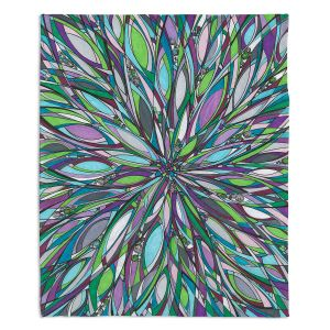 Decorative Fleece Throw Blankets | Valerie Lorimer - Heart of the City | flower mandala pattern abstract