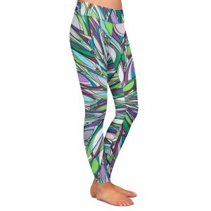 Casual Comfortable Leggings | Valerie Lorimer - Heart of the City | flower mandala pattern abstract