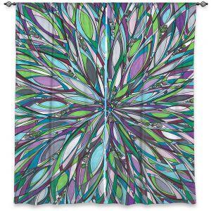 Decorative Window Treatments   Valerie Lorimer - Heart of the City   flower mandala pattern abstract