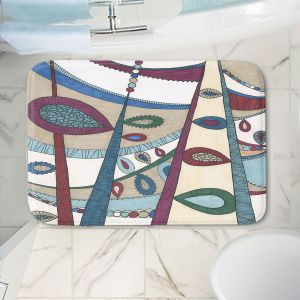 Decorative Bathroom Mats | Valerie Lorimer - In The Vineyard | Abstract Boho Chic Mid Century Modern