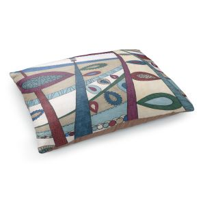 Decorative Dog Pet Beds   Valerie Lorimer - In The Vineyard   Abstract Boho Chic Mid Century Modern