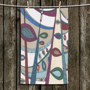 Unique Hanging Tea Towels | Valerie Lorimer - In The Vineyard | Abstract Boho Chic Mid Century Modern